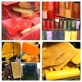 Scrap/Firestarter Recycled Paraffin Candle Wax Blue/Green/White Shades Bulk per lb