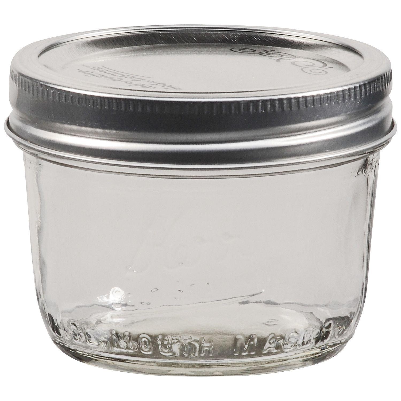 8 Oz Wide Mouth Mason Jars