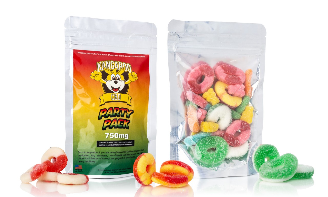 CBD High Potency 750mg Infused Assorted Gummy Candy Party Pack 4 2
