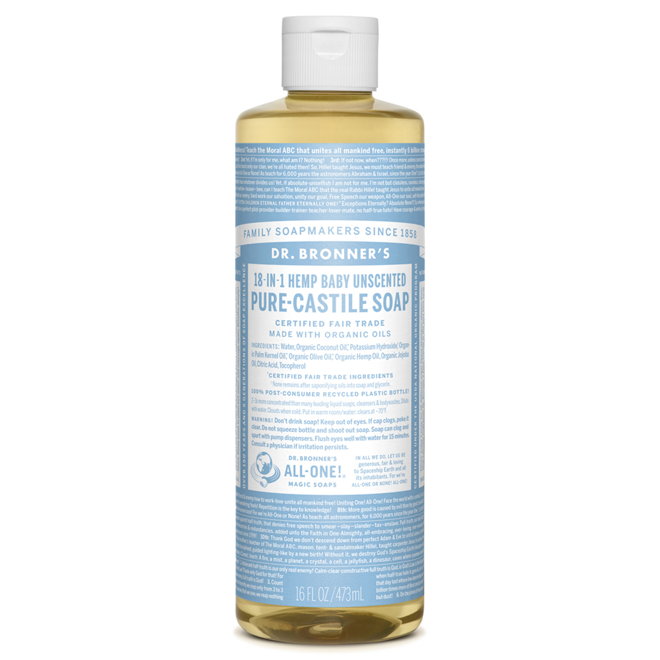 Castile Liquid Soap Baby Mild Unscented Fragrance Free
