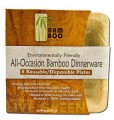 "Bamboo Studio Square Plates 5"" 8/Pack"