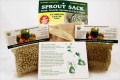 Handy Pantry Sprout Sack with Organic Mung Beans & Peas Kit