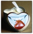 Edible Heart Massage Soy Oil Candle Chocolate 4.7 oz Tin  Earthly Body