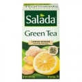 Green Tea Fruit Infusions Lemon Ginger 20 Bags Salada
