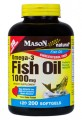 Fish Oil Omega-3 1000mg 200 SoftGels Mason Natural
