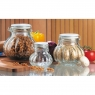 12 oz/32 oz/52 oz Pumpkin/Melon Shaped Glass Jar with Ceramic Wire Bale Hermetic Lock-Lid Top