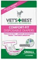 Comfort-Fit Disposable Female Diapers 12-Pack Vet's Best