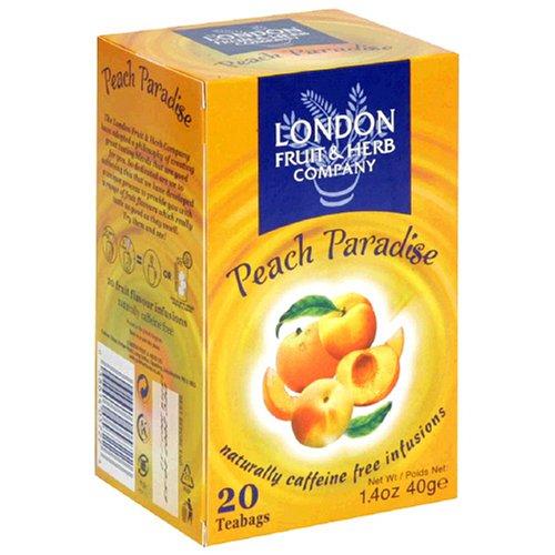 Peach Paradise Herbal Tea Infusion 20 Bags London Fruit