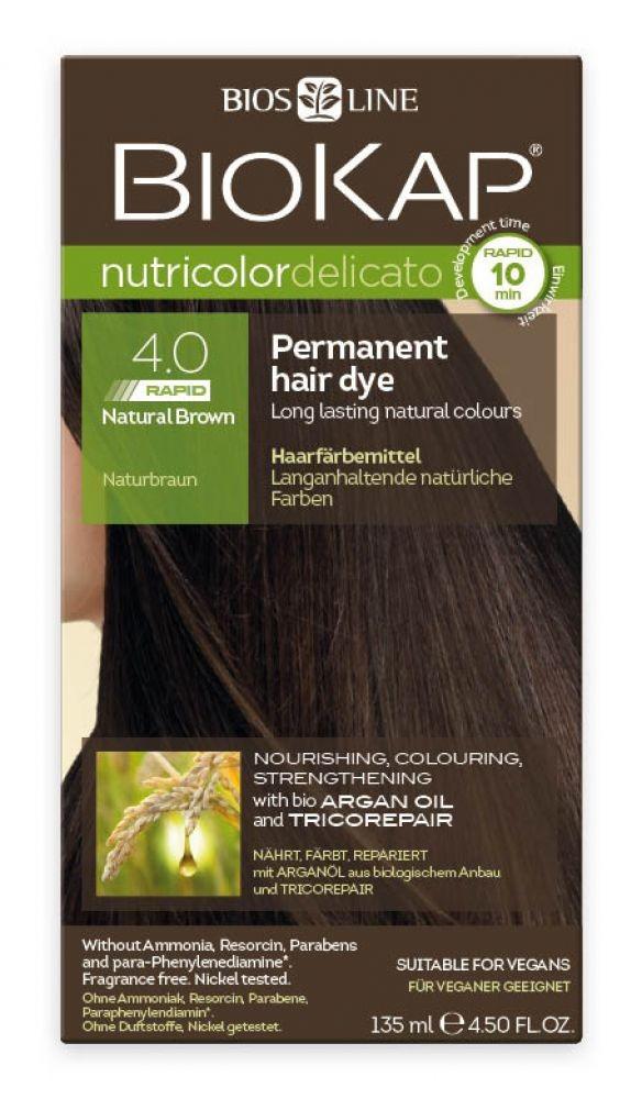 f71623817625a Rapid Permanent Hair Color Nutricolor Delicato 4.0 Natural Brown ...