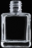 10 ml/15 ml (0.3 oz/0.5 oz) Square Clear Glass Bottle with Metal Roll-On & Cap