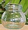 10.5 oz Leonardo Clear Glass Jar With Gold Metal Lug Cap 314 ml
