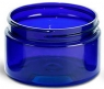 4 oz/125ml Cobalt Blue PET Plastic Straight Sided Round Jar 70/400 (Caps not included)