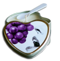 Edible Heart Massage Soy Oil Candle Feed Me Grapes 4.7 oz Tin  Earthly Body