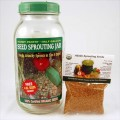 Handy Pantry Seed Sprouting Jar, Lid & Seeds Kit 1/2 Gallon Size Jar