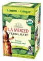 La Merced Yerba Mate Lemon Ginger Certified Organic 20 Tea Bags