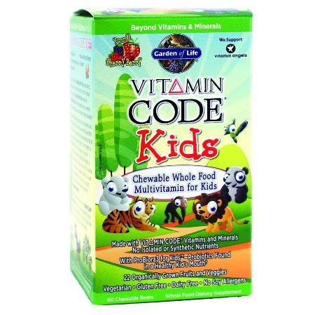 Vitamin Code Kids Multivitamin Chewable Bears 30 60 Garden Of Life 658010114394 658010114400